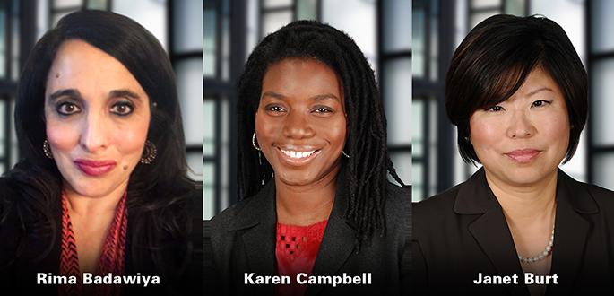 Rima Badawiya, Karen Campbell, Janet Burt